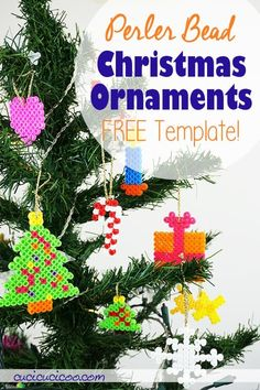 These perler bead Christmas patterns are perfect for kids to make DIY ornaments as holiday gifts! #hamabeadschristmas #perlerbeadschristmas Beaded Christmas Ornaments, Christmas Tree Ornaments, Christmas Crafts, Christmas Patterns, Diy Ornaments, Holiday Crafts For Kids, Crafts For Boys, Holiday Gifts, Children Crafts