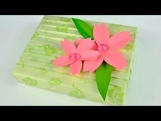 Spring Gift Wrapping with Cherry Blossoms - YouTube