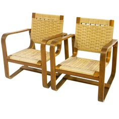 Pair of 40's armchairs.-Giuseppe Pagano- Maggioni- living room