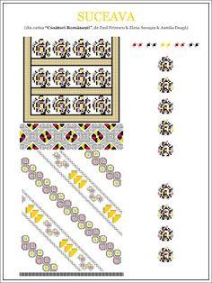 paulpetrescu&elenasecosan&aureliadoaga - ie SUCEAVA. Folk Embroidery, Embroidery Patterns, Cross Stitch Patterns, Costume Patterns, Simple Cross Stitch, Beading Patterns, Pixel Art, Decorative Items, Projects To Try