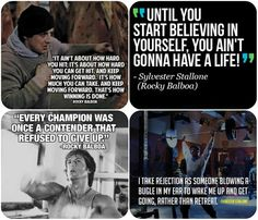 Rocky Balboa Quotes, still watching these movies all the time! Rocky Quotes, Rocky Balboa Quotes, Movie Quotes, Life Quotes, Life Sayings, Tv Quotes, Stallone Rocky, Motivational Quotes, Inspirational Quotes