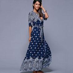 Retro Vintage Maxi Long Dress