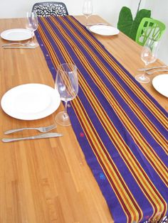 Mexican table runner traditional Chiapas textile from Chiapas, Mexico