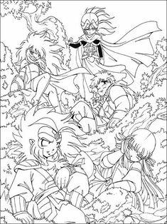 Disegni da colorare per bambini da stampare The Legend of the Legendary Heroes 18