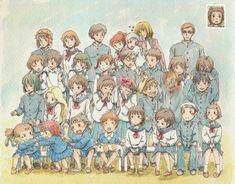 Studio Ghibli class photo