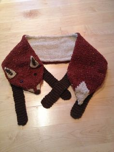 Foxy Faux Critter Cruelty-free Made in California with Sea Ranch Woolworks fox stole. $150.00, via Etsy.