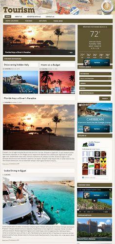 Tourism WordPress Travel Destinations Theme