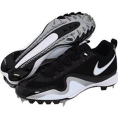 Athletic NIKE Mens Slasher Baseball Black  amp  White Metal Cleats Size 13  NEW  Nike 3a77edd83