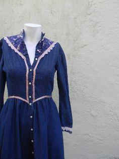 Vintage. 70s Gunne Sax Jean Dress // Jessica by styleforlife, $42.25
