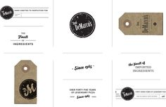 rubber stamps for use on restaurant materials, by Stitch Design Co.