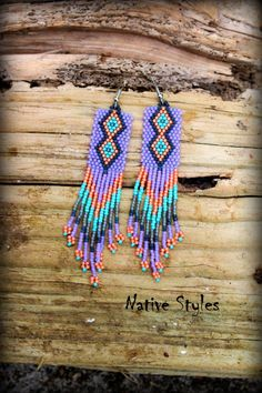 """RESERVED 4""""Tribal Inspired~Native American Style Seed Bead~Woven Lavender~Native American Inspired Bead Work~Native Indian Inspired~Bohemian by NativeStyles on Etsy"""