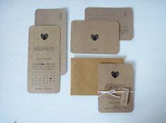 Rustic Kraft Paper Wedding Invitation Set. Save by MintConfetti, $7.00