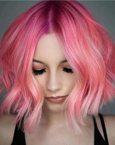 40 Edgy Pink Bob Haircuts and Hairstyles for 2018