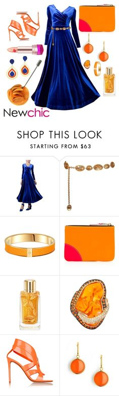 """""""#newchic STAND OUT TONIGHT"""" by girlofdemeter ❤ liked on Polyvore featuring Chanel, Comme des Garçons, Lancôme, Nicholas Kirkwood, Syna, Toolally, chic, New and newchic"""