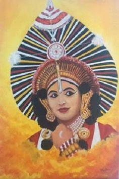 Paintings by Vranda Phadke - Yakshagana