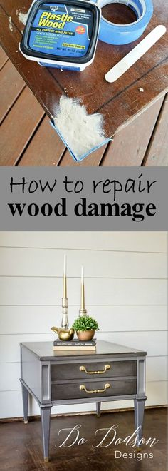 How to repair wood damage on your furniture.
