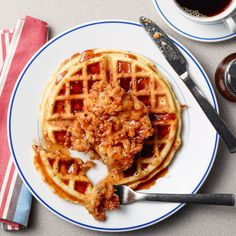 Froed Chicken, Chicken Recipes, Belgian Waffle Iron, Food Network Recipes, Cooking Recipes, Belgium Waffles, Fried Chicken And Waffles, Waffle Recipes, Morning Food