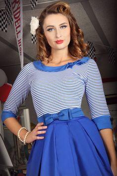 Follies Jersey Top (Blue)