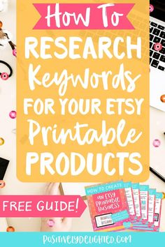 Keywords are crucial for getting found on Etsy. Thankfully, Etsy gives you many places to put keywords! So, where do you find these keywords and where do they go in your product listing? In this blog post, I'll answer these questions and more! You'll learn all about how to research keywords for your Etsy printable products. Plus, download a FREE guide and get 40 FREE listings to open your Etsy shop today! #etsy #etsyseller #etsyshop #etsytips #etsymarketing Etsy Business, Business Tips, Online Business, Where To Sell, Online Income, Promote Your Business, Business Motivation, Sell On Etsy, Printables