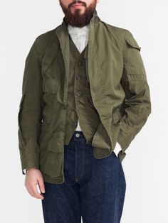 AW 2014 Must Have - Japan's NEEDLES' Rebuild Series BDU (Battle Dress Uniform) Peak Lapel Jacket Military Gear, Military Jacket, Fashion Details, Men's Fashion, Cold Wear, Battle Dress, Aw 2014, Army Camo, Effortless Chic