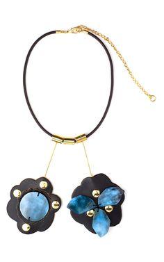 Powder Blue паззл ожерелье с Marni для предзаказа на Moda Operandi