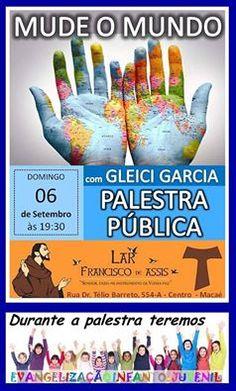 Lar Francisco de Assis Convida para a sua Palestra Pública – Macaé – RJ - http://www.agendaespiritabrasil.com.br/2015/09/05/lar-francisco-de-assis-convida-para-a-sua-palestra-publica-macae-rj-24/