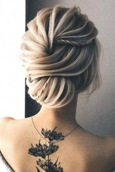 Trendy wedding hairstyles for long hair updo how to ideas Wedding Hairstyles Thin Hair, Curly Wedding Hair, Short Hair Updo, Wedding Hair Flowers, Braids For Long Hair, Cool Hairstyles, Braid Hairstyles, Updo Curly, Wedding Dresses