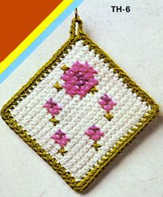 NEW! Place Mat & Potholder crochet pattern from Things to Knit & Crochet, Leaflet 2576.