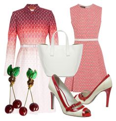 """""""Cherry Jubilee"""" by fashionforwarded ❤ liked on Polyvore featuring Giambattista Valli, Missoni, Chanel and D&G"""