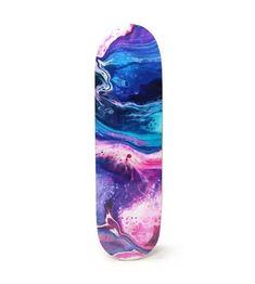 Painted Skateboard, Skateboard Deck Art, Skateboard Design, Skateboard Girl, Custom Skateboard Decks, Skateboard Videos, Penny Skateboard, Skateboard Parts, Skater Girls