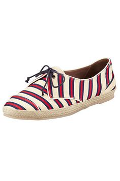 6da12286c637 Spring shoe trend  4  Espadrille sneakers Striped Espadrilles, Espadrille  Sneakers, Striped Flats