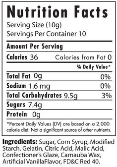 Jelly Bean nutrition label for Syd's halloween costume :)