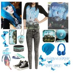Collide With The Sky by fallen000 on Polyvore featuring H&M, Converse, Coal and Beats by Dr. Dre