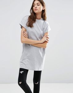 Bild 1 von ASOS – The Ultimate Easy Longline – Langes T-Shirt