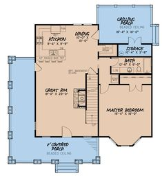 Craftsman Plan: 1,905 Square Feet, 3 Bedrooms, 2 Bathrooms - 8318-00130 Best House Plans, Dream House Plans, Small House Plans, House Floor Plans, Rustic House Plans, Craftsman Style House Plans, Cottage House Plans, Cottage Homes, Rustic Cottage