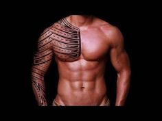 Chest tattoo tribal men