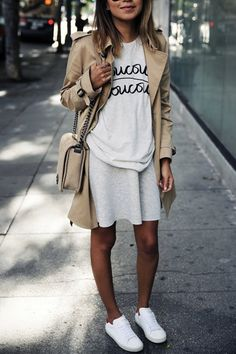 15 Outfits to Wear with Your New White Sneakers #purewow #fashion