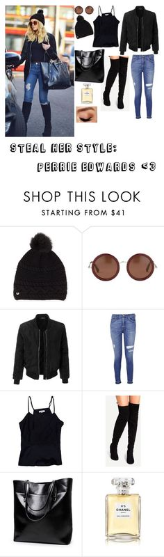 """Requested❤  Steal her style #4: Perrie Edwards✌"" by livitta ❤ liked on Polyvore featuring UGG, LE3NO, 7 For All Mankind, Parker, Chanel and Avon"