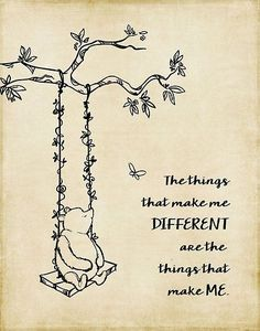 'Winnie the Pooh - The things that make me different' Canvas Print by SouthernSassArt - Puuh - Quotes Winnie The Pooh Drawing, Winnie The Pooh Quotes, Eeyore Quotes, Book Quotes, Me Quotes, Qoutes, Poster Quotes, Lyric Quotes, Love Posters