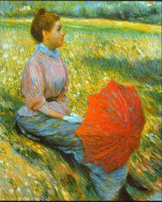 Federico Zandomeneghi  Lady in a Meadow