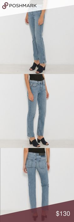 Helmut Lang Boyfriend Straight Jeans Brand new, never worn. Marked as a size 26 but actually fits like a size 30. Weight measured flat across 15 inches. Relaxed, 90s inspired boyfriend jeans crafted and non-stretch Japanese cotton denim and medium wash. Fading and whiskering throughout. Five pocket styling. Button and zip closure. 100% cotton. Helmut Lang Jeans Straight Leg