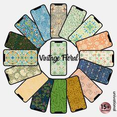 Vintage Floral Phone Wallpaper Flower Phone Wallpaper | Etsy