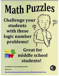 These Math puzzles are logic number problems for students to solve using their basic numeracy skills, their knowledge of place value and the divisibility rules. This bundle of Math puzzles can be used in a variety of ways.  They can be done individually, in pairs, in small groups or as a whole class activity.