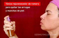 Tónico rejuvenecedor de romero para quitar las arrugas y manchas de piel