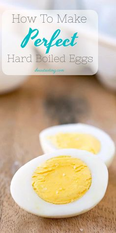 How To Make Perfect Hard Boiled Eggs - I Heart Eating