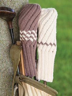 Free Knit Pattern Download -- This Knit Spiral Rib Golf Club Cover, designed by Sandi Rosner, is featured in episode 11, season 4 of Knit and Crochet Now! TV. Learn more here: https://www.anniescatalog.com/knitandcrochetnow/patterns/detail.html?pattern_id=75&series=2