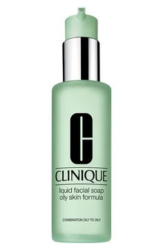 oily skin Clinique Liquid Facial Soap available at #Nordstrom Social Feed, Lotion, Lipgloss, Facial Cleansers, Combination Skin, Oily Skin, Sensitive Skin, Soaps, Moisturizer