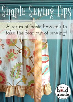 Sewing is easy once you learn the basics!  Follow this series and make your own Vintage Style Apron!