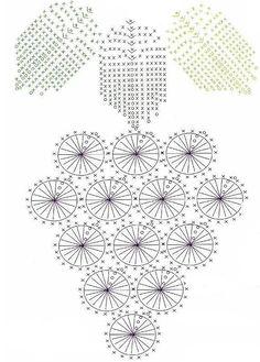 Gráfico de cacho de uva em crochê
