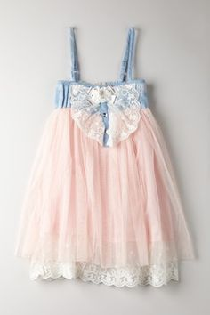 Adorable Denim + Pink Tulle. Taking notes for @Karrie Brothers Mueller's soon-to-be baby girl gifts! #dreamindenim